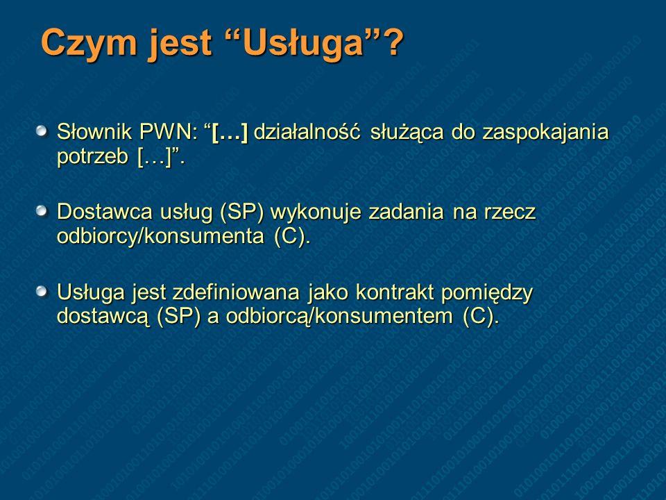 Wardziak Tomasz Czym jest Usługa Słownik PWN: […] działalność służąca do zaspokajania potrzeb […] .